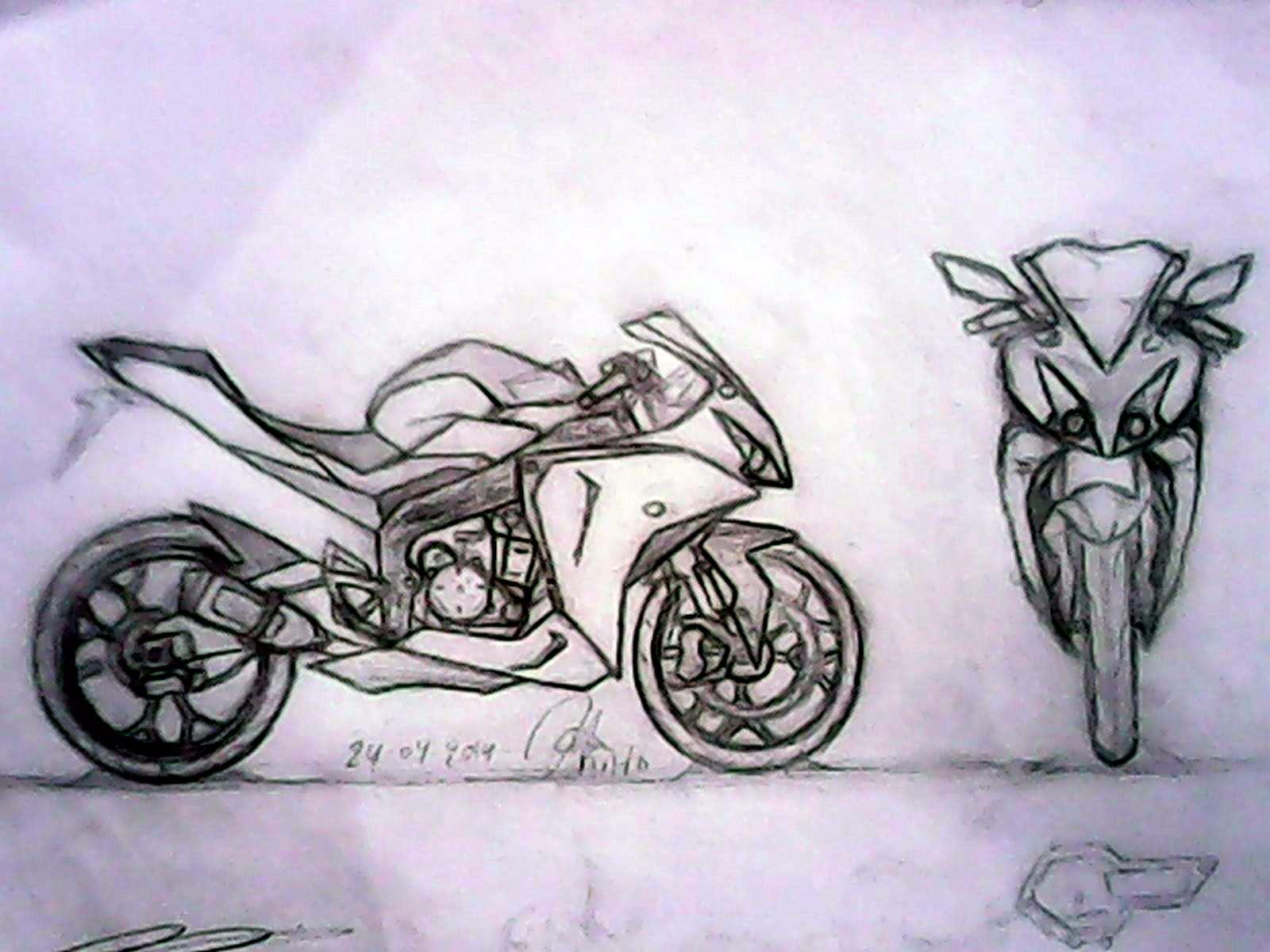 Gambar Sketsa Motor Sport Gambar Motor