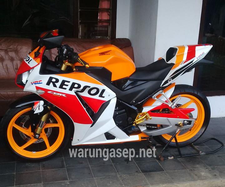 Modifikasi Honda Cbr150r Repsol Terinspirasi Honda Rc213vnya