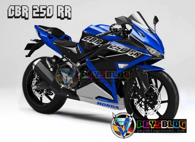 honda cbr250rr biru