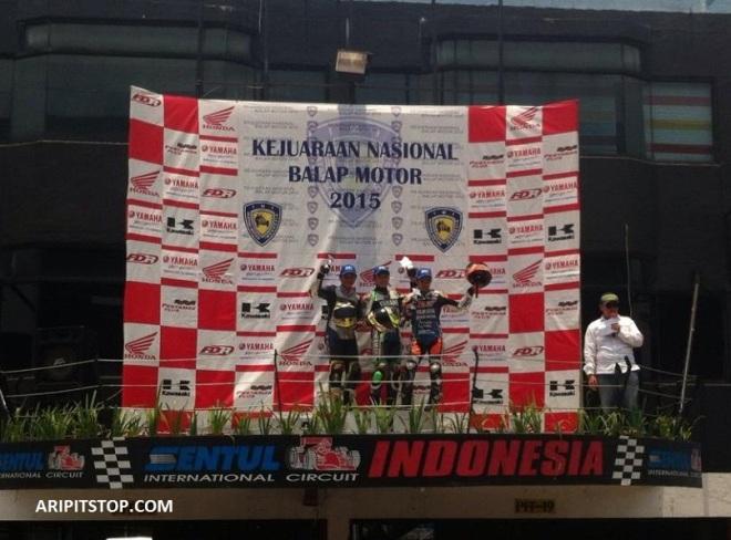 podium race 2 irrc kelas 150cc