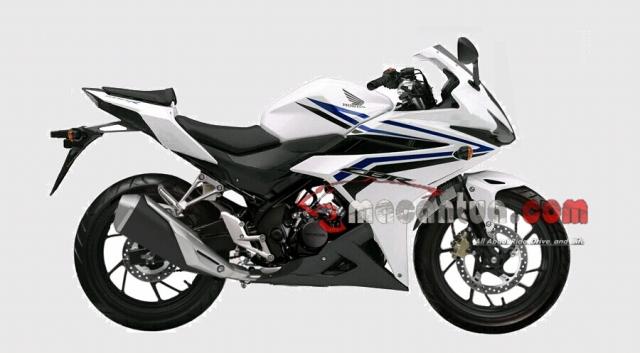 illustrasi sosok Honda CBR150R facelift 2016