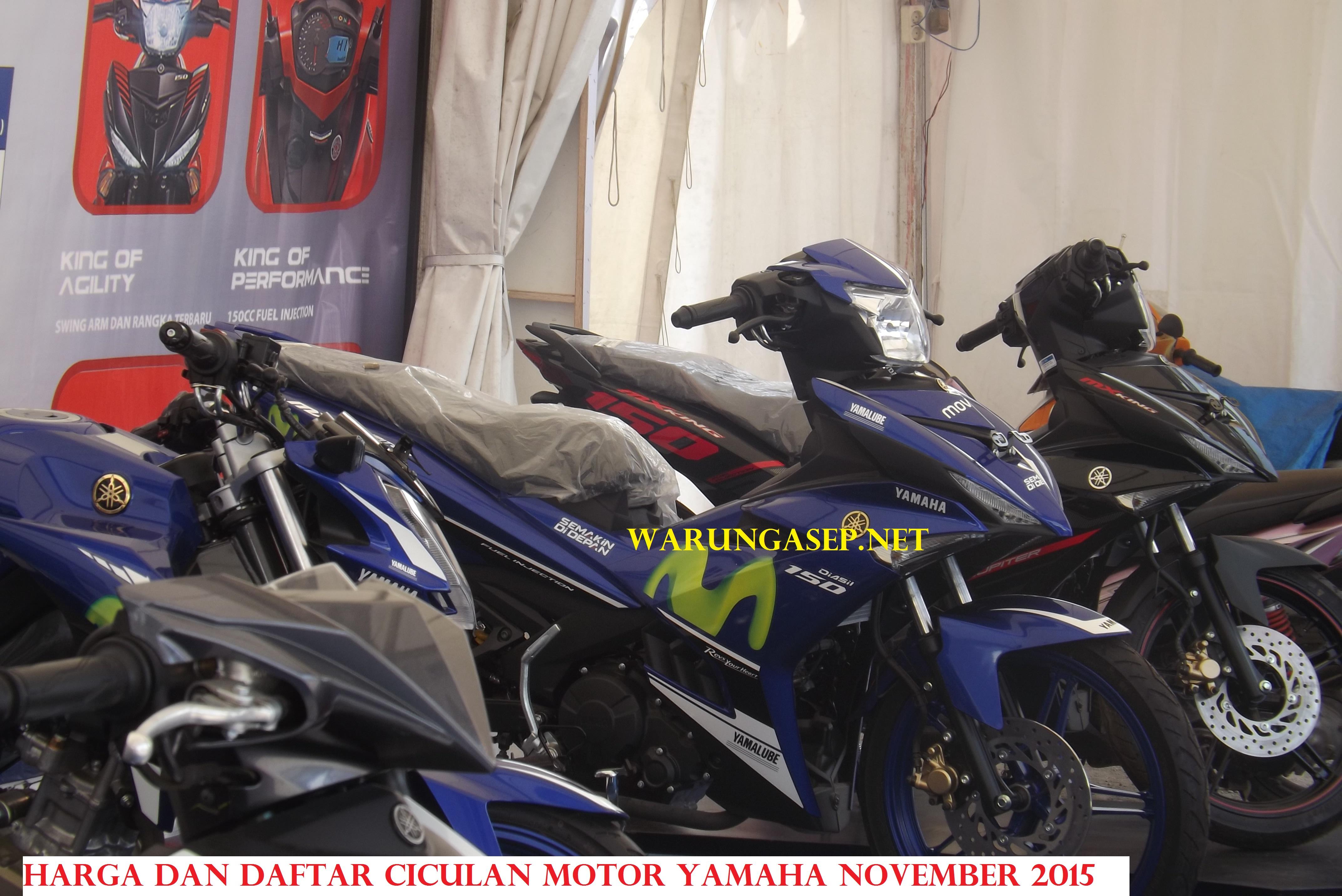 Daftar Harga Dan Cicilan Motor Yamaha Di Tasikmalaya November 2015