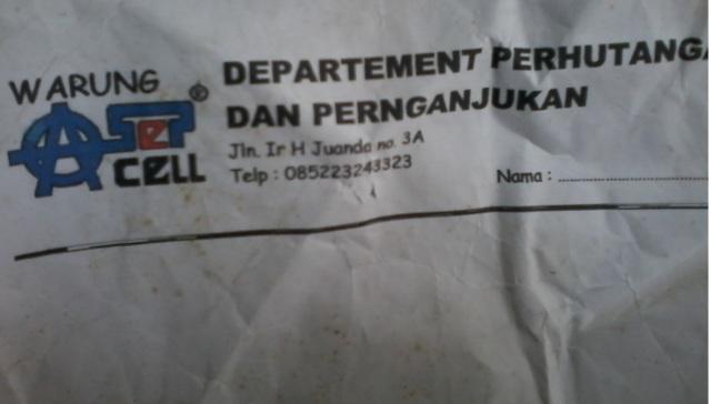 bon hutang pelanggan Warungasep tahun 2009 wkwkwkw
