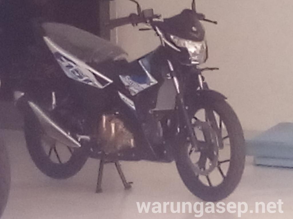 Intip All New Satria F150 FI Warna Putih Biru WARUNGASEP