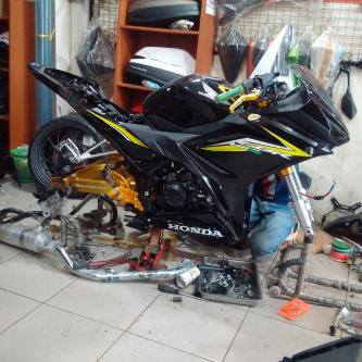 pasang upside down cbr150r 2016 facelift